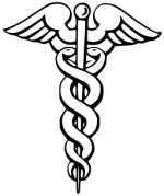 Caduceus symbol by Rama and Eliot Lash (public domain)