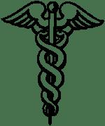 Caduceus symbol by Rama and Eliot Lash (public domain)
