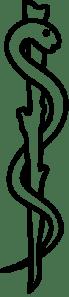 Rod of Asclepius, author: Rama, public domain.