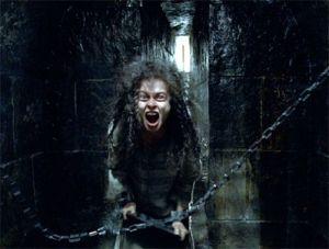 Bellatrix screaming in her cell at Azkaban
